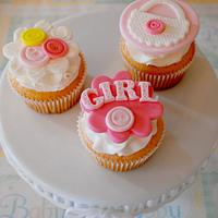Baby Girl Cupcakes!