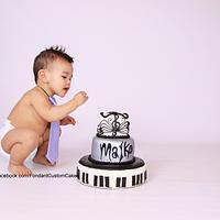 smash cake- music themed