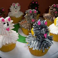 Puppy dog cupcakes by Sarah