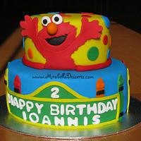 Sesame Street / Elmo birthday cake by Mira - Mirabella Desserts