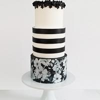 Black and White Floral (from Cake This Again Collaboration)