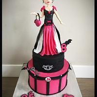Birthday cake Monster High with Draculaura