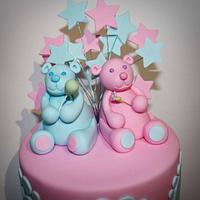 Twins Christening Cake by Kate