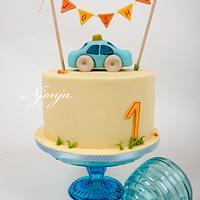 First baby boy birthday cake