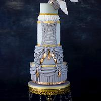 """Wedding cake inspired by """"Barbie"""" fashion collaboration"""