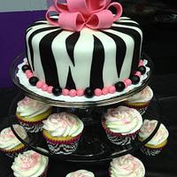 Zebra Cake and Cupcakes