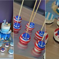 Nautical cake and sweets