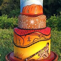 Australian didgeridoo cake - Music around the world collaboration