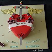 Bon Jovi, Heart & Dagger 50th birthday cake - May 2011
