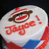 Sock Monkey Cake by Christy McClure