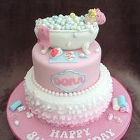 Taking a bath cake