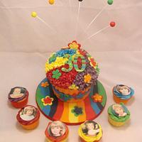 Super Bright Giant Cupcake
