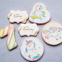 Unicorn cookie set