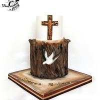Confirmation Wood cake