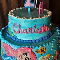 Bubble Guppy cake in buttercream