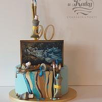 Cake for painter