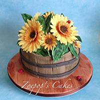 Sunflower cake with tutorial.
