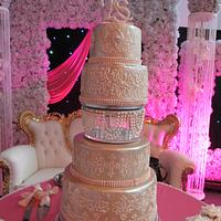 Ivory Pearl Wedding Cake