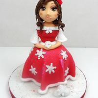 Cake topper Christmas girl