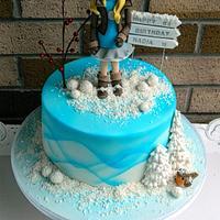 winter Birthday cake