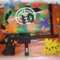 Paintball cake by CuriAUSSIEty  Cakes
