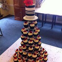 RBL Charity Gala Poppy Cupcake tower