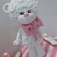 Cute teddy bear cake topper