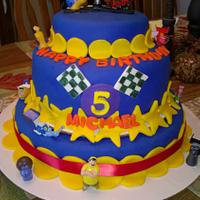 Turbo birthday cake