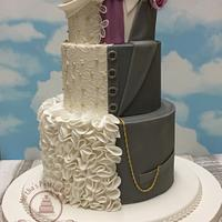 """THE """"HIS & HERS"""" wedding cake"""