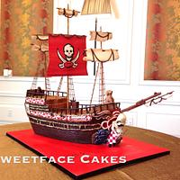 Tampa Bay Buccaneers Pirate Ship Groom's Cake