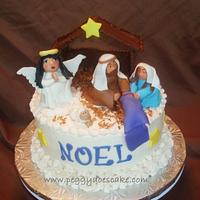Nativity Cake by Peggy Does Cake