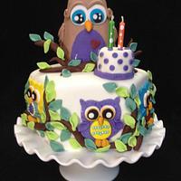 Mason's owl cake
