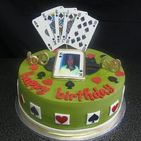 Playing cards inspired cake