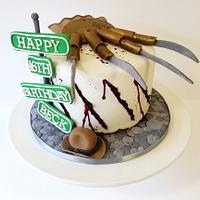 Nightmare on Elm Street cake