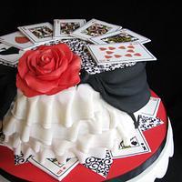 Playing Card Birthday Cake by Sarah