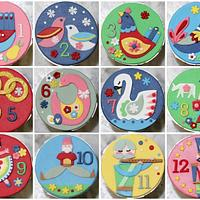 12 Days of Christmas Cupcake toppers