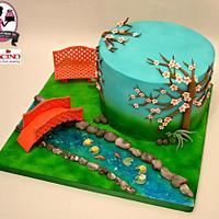 Tranquil Garden Cake