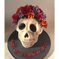 A Floral Skull