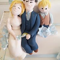 Family wedding cake