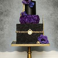 Black & gold & purple elegant