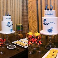Winter Holiday Party Company Logo Cake