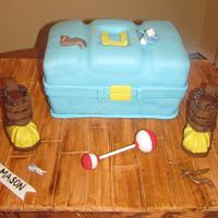 Fisherman Baby Shower Cake
