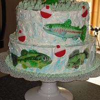 Fishy grooms cake