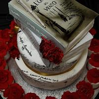 Calligraphy, writing and reading cake