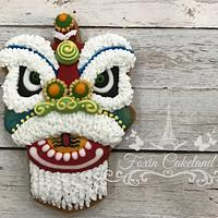 Lion Dance Relief Cookie