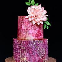 Cake with sugar Dahlia