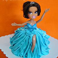Frozen Inspired doll cake by Donna Dolendo