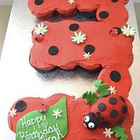 Lady Bug Cupcake Cake
