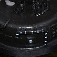 Alien vs preditor cake, edible figures too by Deb-beesdelights