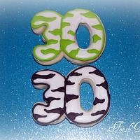 """""""30"""" Zebra cookies"""